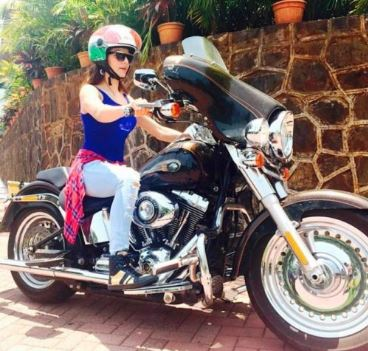 Urvashi Rautella bike