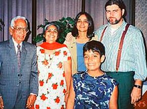 Kalpana Chawla with his family