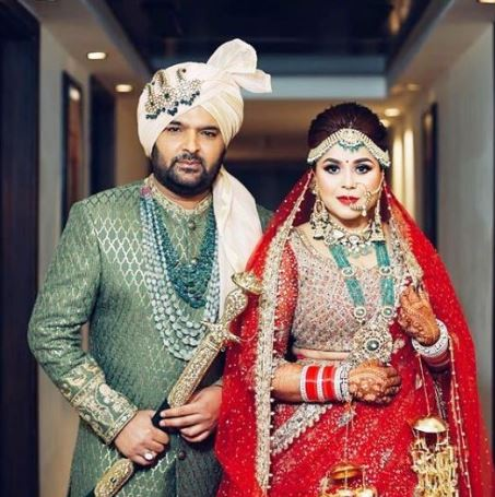 Kapil Sharma with her wife